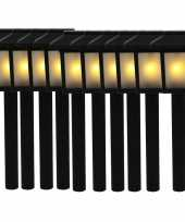 10x tuinlamp fakkel tuinverlichting met vlam effect 34 5 cm