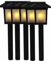 5x tuinlamp fakkel tuinverlichting met vlam effect 34 5 cm