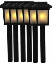 6x tuinlamp fakkel tuinverlichting met vlam effect 34 5 cm