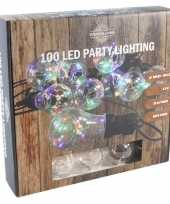 Feestverlichting timer lichtsnoer met 10 bolletjes 450 cm
