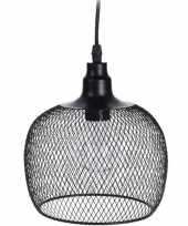 Led tuinverlichting hanglamp metaal 18 cm zwart