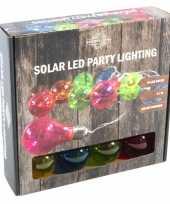 Solar feestverlichting tuinverlichting met 10 neon gekleurde lampjes